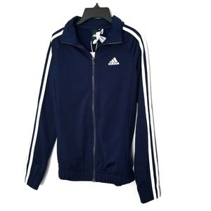 Adidas Women's track jacket navy blue white XS nwt